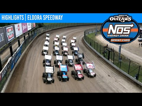 World of Outlaws NOS Energy Drink Sprint Cars Eldora Speedway, July 18, 2021 | HIGHLIGHTS - dirt track racing video image
