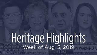Heritage Highlights: Welfare, North Korea, China Tariffs, Iran, Background Checks