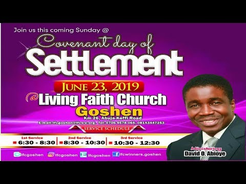 COVENANT DAY OF SETTLEMENT 3RD SERVICE  JUNE 23, 2019