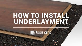 How to Install Rubber Underlayment video thumbnail