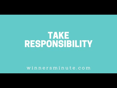 Take Responsibility // The Winner's Minute With Mac Hammond