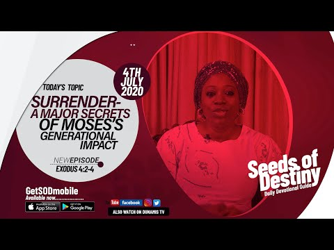 Dr Becky Paul-Enenche - SEEDS OF DESTINY - SATURDAY JULY 4, 2020