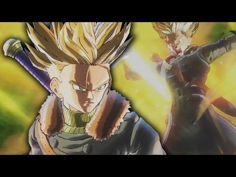 NEW Future Trunks FUTURE SUPER SAIYAN Gameplay! (EXCLUSIVE) Dragon Ball Xenoverse 2 GAMEPLAY - default
