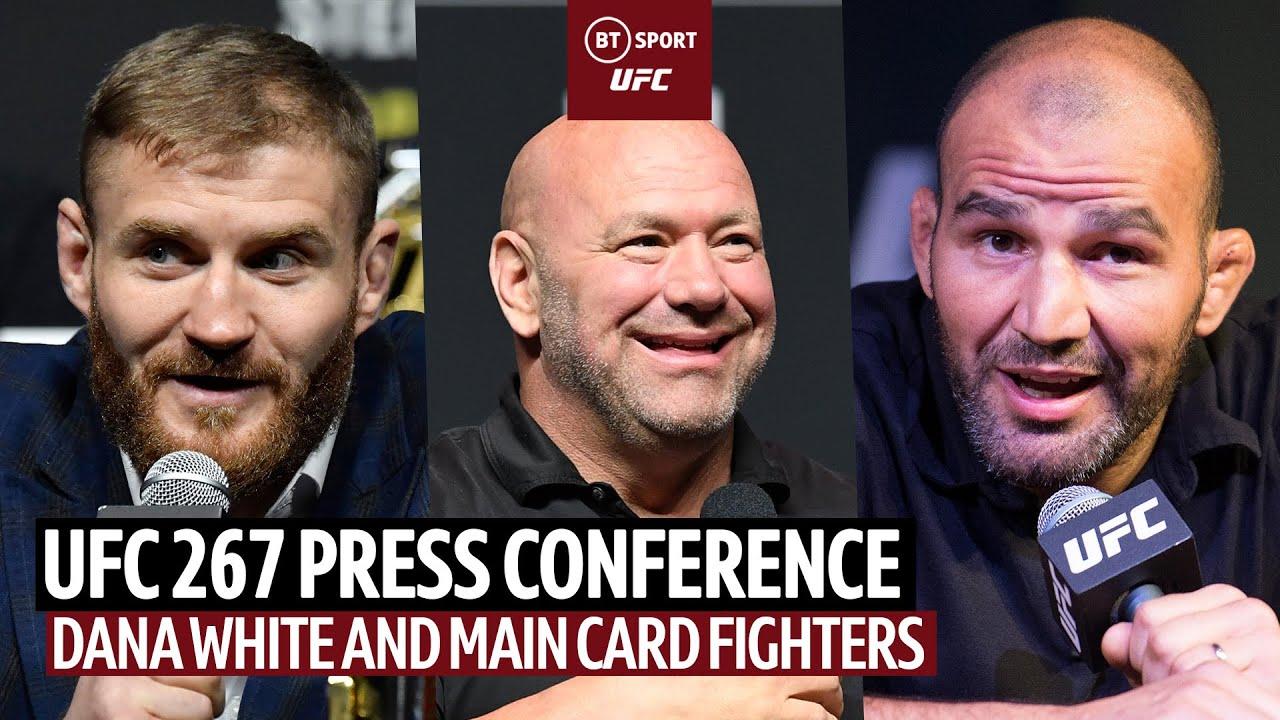 UFC 267 Live Press Conference: Blachowicz, Teixeira, Yan, Sandhagen, Makhachev, Hooker, Chimaev