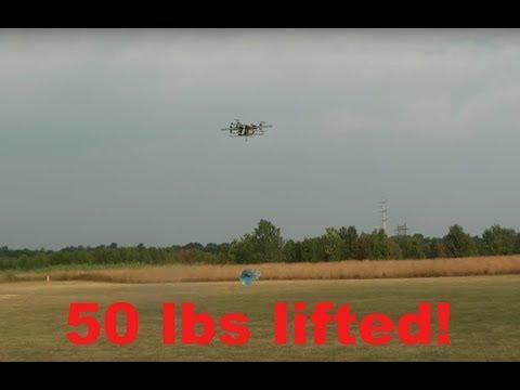 Heavy Lift 50lbs 22.7kg 685mm X8 Multi Rotor - UCyPgMl-FKummC_Lk4zM4fGw