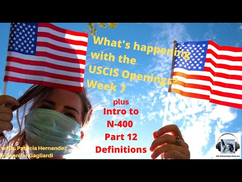 What's happening with the USCIS Openings?  Week 7