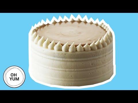 Classic Vanilla Birthday Cake With Caramel Pastry Cream