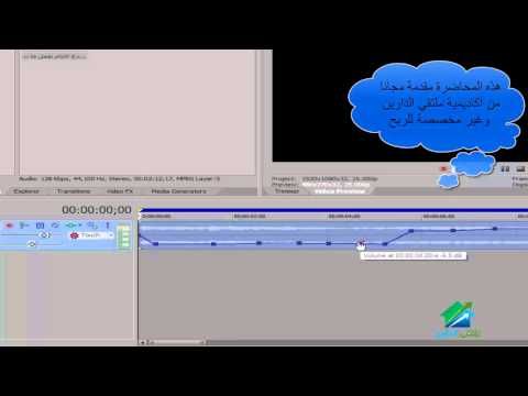Sony Vegas | Aldarayn Academy | Lecture 5
