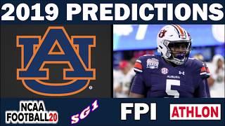 SEC Predictions 2019 Football Predictions - Comparing Sources