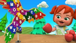 ABC Songs for Children | Little Babies Fun Play Learning Alphabets with Wooden Parrot Puzzle Toy Set