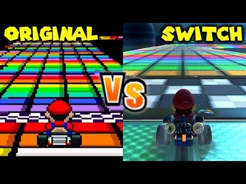 Mario Kart 8 Wario S Gold Mine Head To Head Comparison Wii