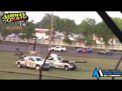 Norman County Raceway WISSOTA Hornet Races (7/15/21) - dirt track racing video image