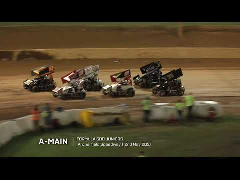 Formula 500 Juniors: A-Main - Archerfield Speedway - 02.05.2021 - dirt track racing video image
