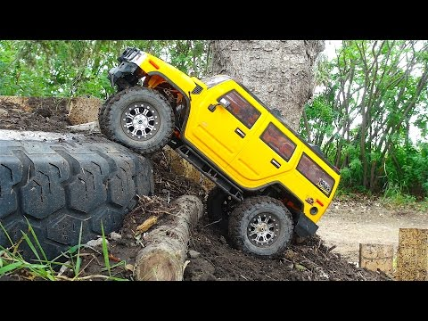 RC ADVENTURES - GiANT BACKYARD 1/10 scale TRUCK PARK! Trailing with a HUMMER H2! - UCxcjVHL-2o3D6Q9esu05a1Q