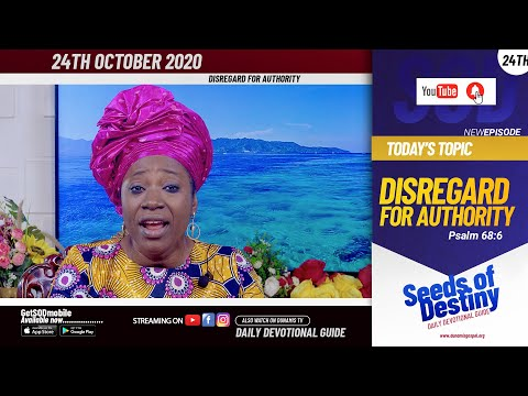 Dr Becky Paul-Enenche - SEEDS OF DESTINY - SATURDAY OCTOBER 24, 2020