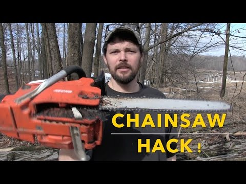 CHAINSAW HACK! fixing a saw that cuts crooked! - default