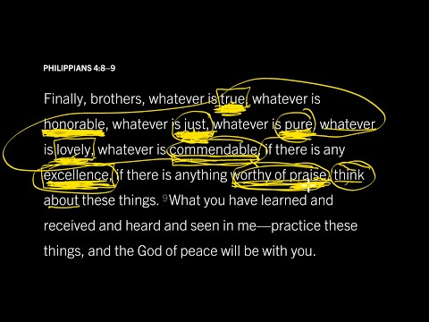 Philippians 4:89 // Part 2 // What Does the Mind of Peace Think About?