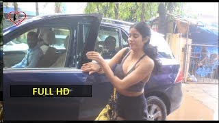 Hot Jhanvi Kapoor Sweats It Out At The Gym For Her Next Film Action-Drama 'Kargil Girl'