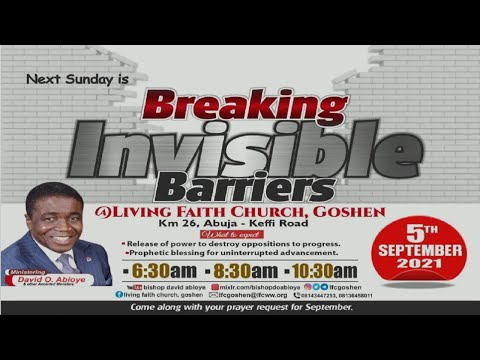 1ST SERVICE: BREAKING INVISIBLE BARRIERS - SEPTEMBER 05, 2021