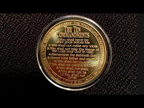 Warning.  Advert.  Ten Commandment Gold Coin