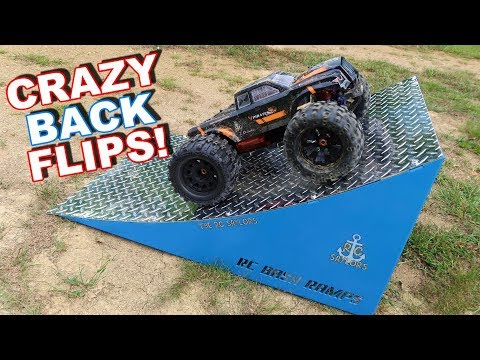 RC Monster Truck Double Back Flip - ZD Racing MT8 Pirates 3 - TheRcSaylors - UCYWhRC3xtD_acDIZdr53huA