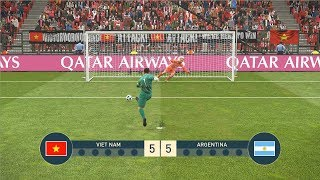 VIET NAM vs ARGENTINA - PENALTY SHOOTOUT - PES19