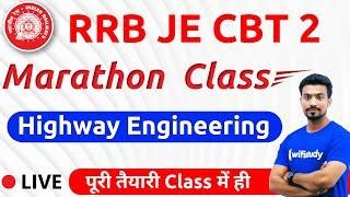 9:00 AM - RRB JE 2019 (CBT-2) | Highway Engineering by Sandeep Sir (Marathon Class)