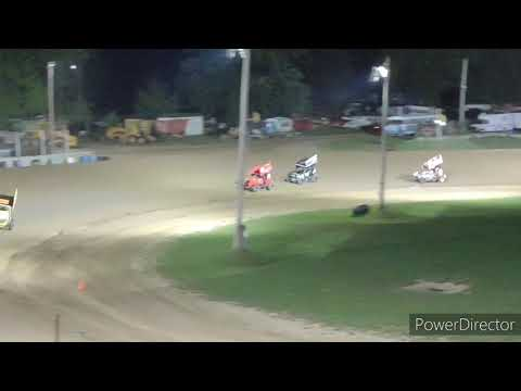 Great Lakes Lightning Sprints A-Main - Crystal Motor Speedway - 9-4-2021 - dirt track racing video image
