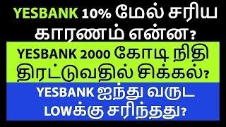 YESBANK 10% மேல் சரிய காரணம் என்ன? |Nifty|Sensex|NSE|Equity|Stock Market|Tamil|Share|Zerodha|CTA