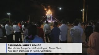 Fireworks light up cremation of  Khmer Rouge's chief ideologue
