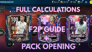 PRE SEASON EVENT F2P GUIDE , FULL CALCULATION & PACKS IN FIFA MOBILE 19 | HOW TO MAKE PROFIT