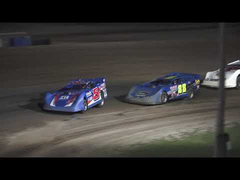 Late Model B-Feature at Crystal Motor Speedway, Michigan on 07-03-2021!! - dirt track racing video image