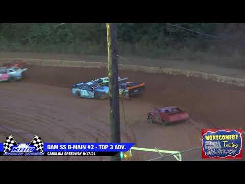 BAM $10k Street Stock B-Mains - Carolina Speedway 9/18/21 - dirt track racing video image