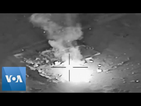 Satellite Images of US Air Strikes in Iraq Released