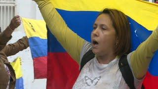 Dozens gather in Caracas neighbourhood to protest Maduro