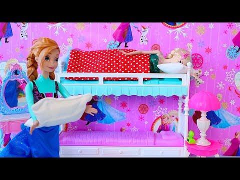 Elsa Birthday Party! Barbie, Anna, Rapunzel cooking cake DIY! 🎀 - UCHFA6Nt11kE_8OWIya0SQDQ