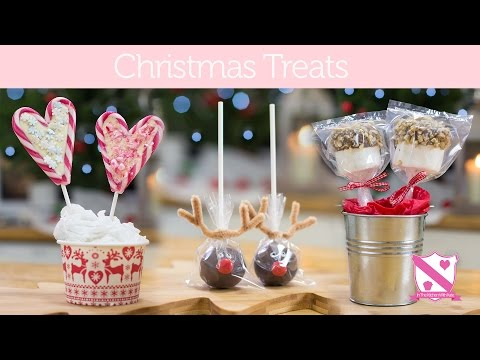Christmas Gift Ideas: Reindeer Cake Pops, Candy Cane Lollies - In The Kitchen With Kate