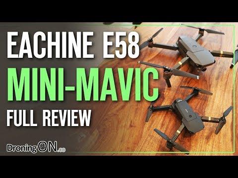 Eachine E58 'Mini DJI Mavic' Unboxing, Comparison & Flight Test - UCYoEOmvbMm0LX6AsIwANvug
