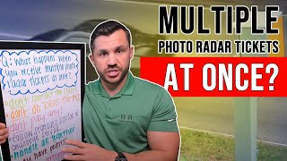 I Received Multiple Photo Radar Tickets, Now What?