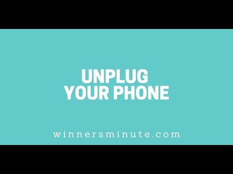 Unplug Your Phone // The Winner's Minute With Mac Hammond