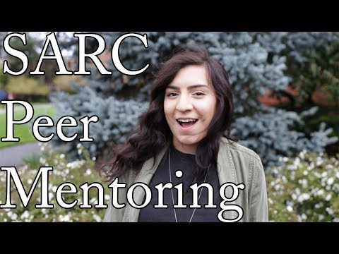 Peer mentors Mustaf, Michelle and Aracely give a brief overview of the SARC First-Generation Peer Mentoring Program.