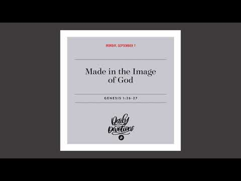 Made in the Image of God  Daily Devotional
