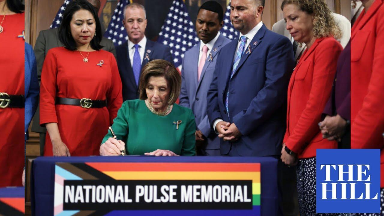 Pelosi, House members sign bill to designate the National Pulse Memorial in Orlando, Florida