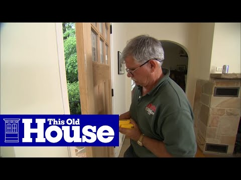 How to Hang a New Front Door in an Existing Frame | This Old House - UCUtWNBWbFL9We-cdXkiAuJA
