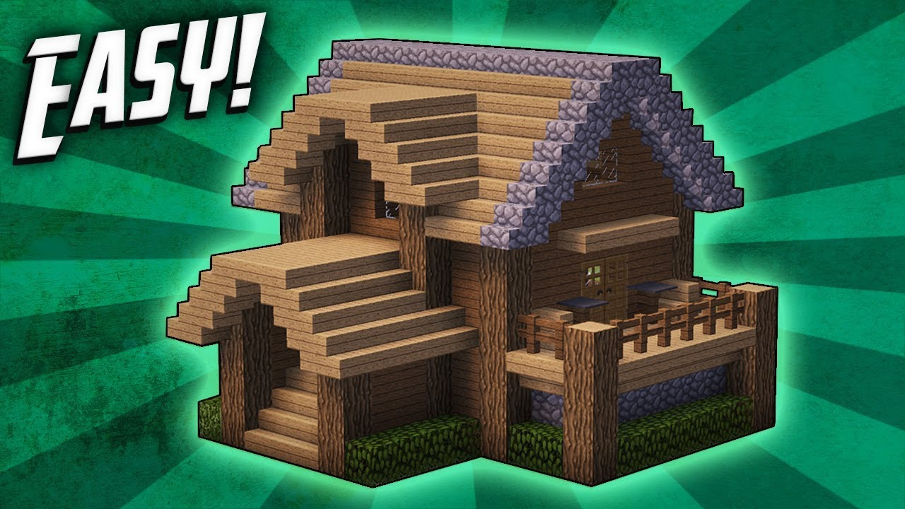 Minecraft  How To Build A Survival Starter House Tutorial   4