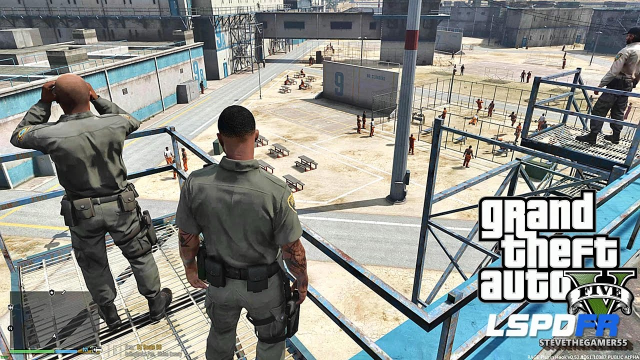 LSPDFR #459 CORRECTIONAL OFFICERS !! (GTA 5 REAL LIFE POLICE