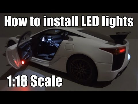 How make LED Tuning Lights for 1/18 Bugatti Chiron DIY Toy Car
