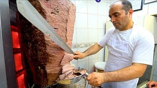 Istanbul Street Food : UP CLOSE w/ The BEST Döner Kebab in TURKEY!! TURKISH STREET FOOD in Istanbul