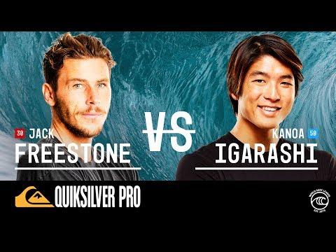 Kanoa Igarashi vs. Jack Freestone - Round of 32, Heat 8 - Quiksilver Pro France 2019