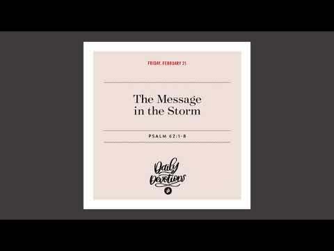 The Message in the Storm - Daily Devotion